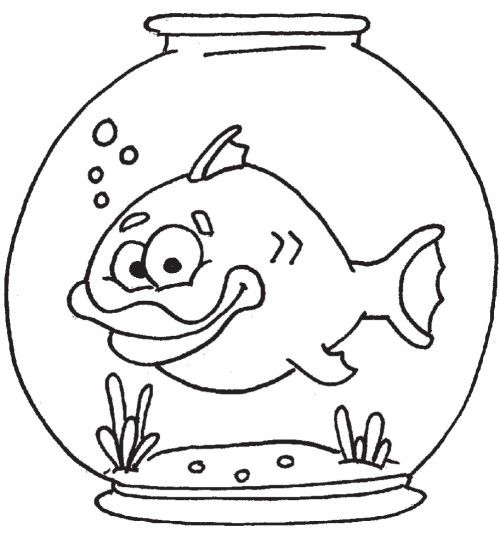 Fish Bowl Template Coloring Pages Abc Crafts Free Coloring Pages