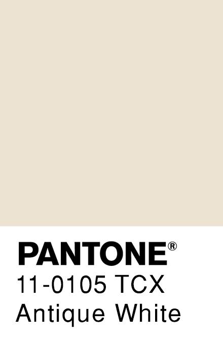 Antique White Pantone Pantone Pantone Palette Color Analysis