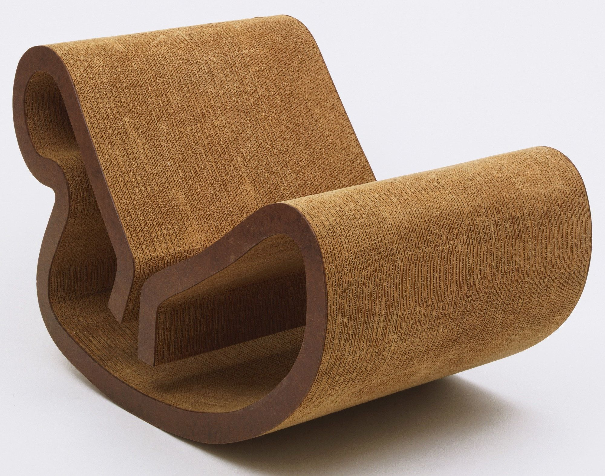 70s chairs is frank o gehry s cardboard chair wiggle side chair - Frank O Gehry Easy Edges Body Contour Rocker 1971