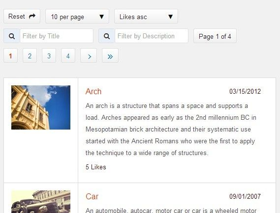 jQuery Plugin For Sorting, Paginating, Filtering Any Content
