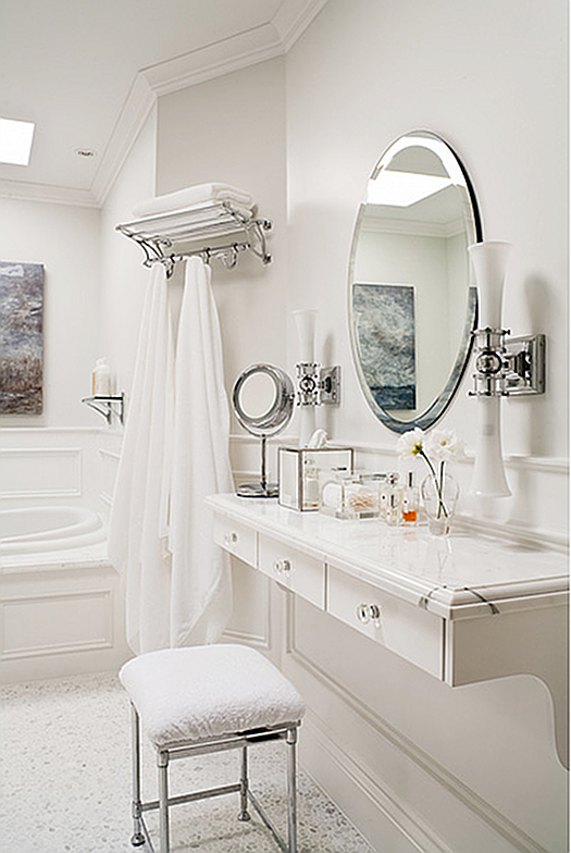 Floating dressing table Bathroom design, Luxury interior