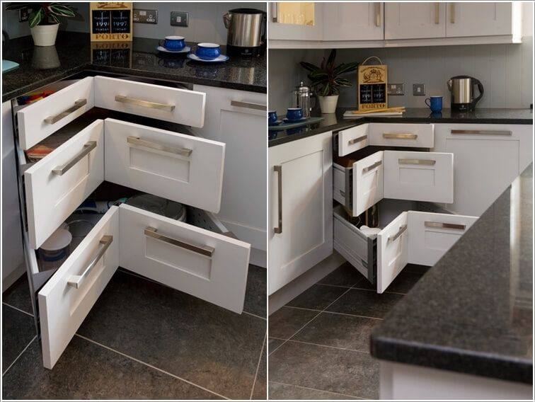10 Clever Corner Storage Ideas For Your Home Corner Kitchen Cabinet Kitchen Cabinet Design Kitchen Interior