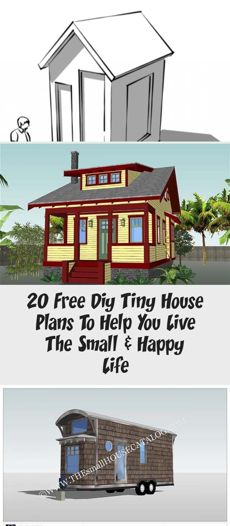 Living In A 100 400 Sqft House Can Be More Meaningful Than In A Big One Here Are 20 Free Diy Tiny Tiny House Plans Diy Tiny House Plans Tiny House Plans Free