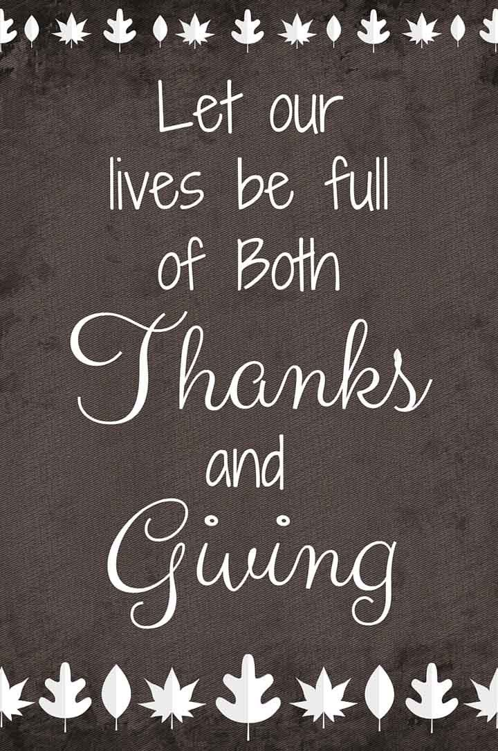 Giving Thanks Quotes Thanks And Giving  Free Printable  Thanksgiving Thanksgiving .