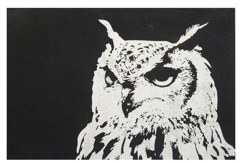 Owl wall art right