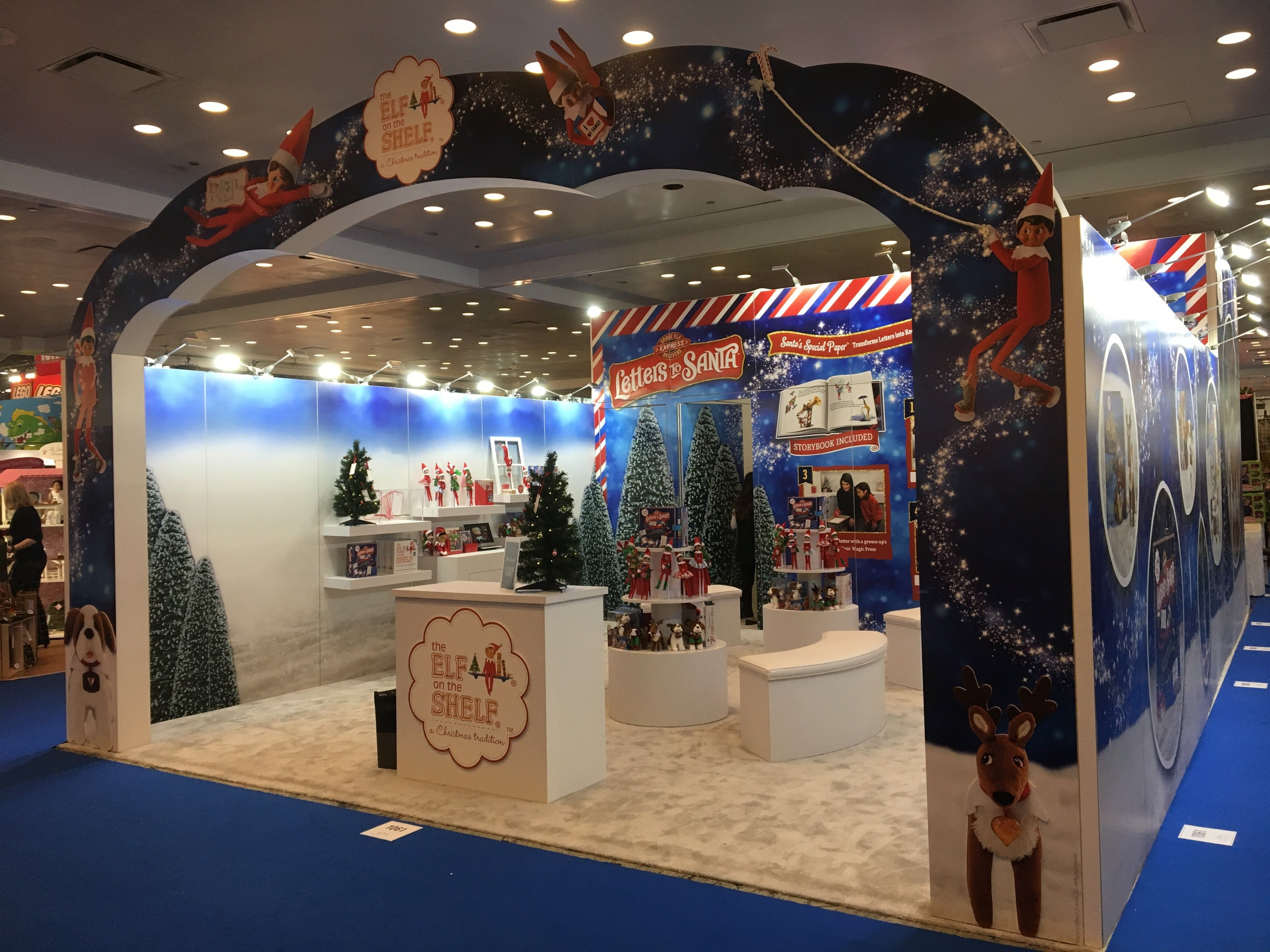 Custom Trade Show Display By Metro Exhibits At The Toy Fair Elf On Shelf