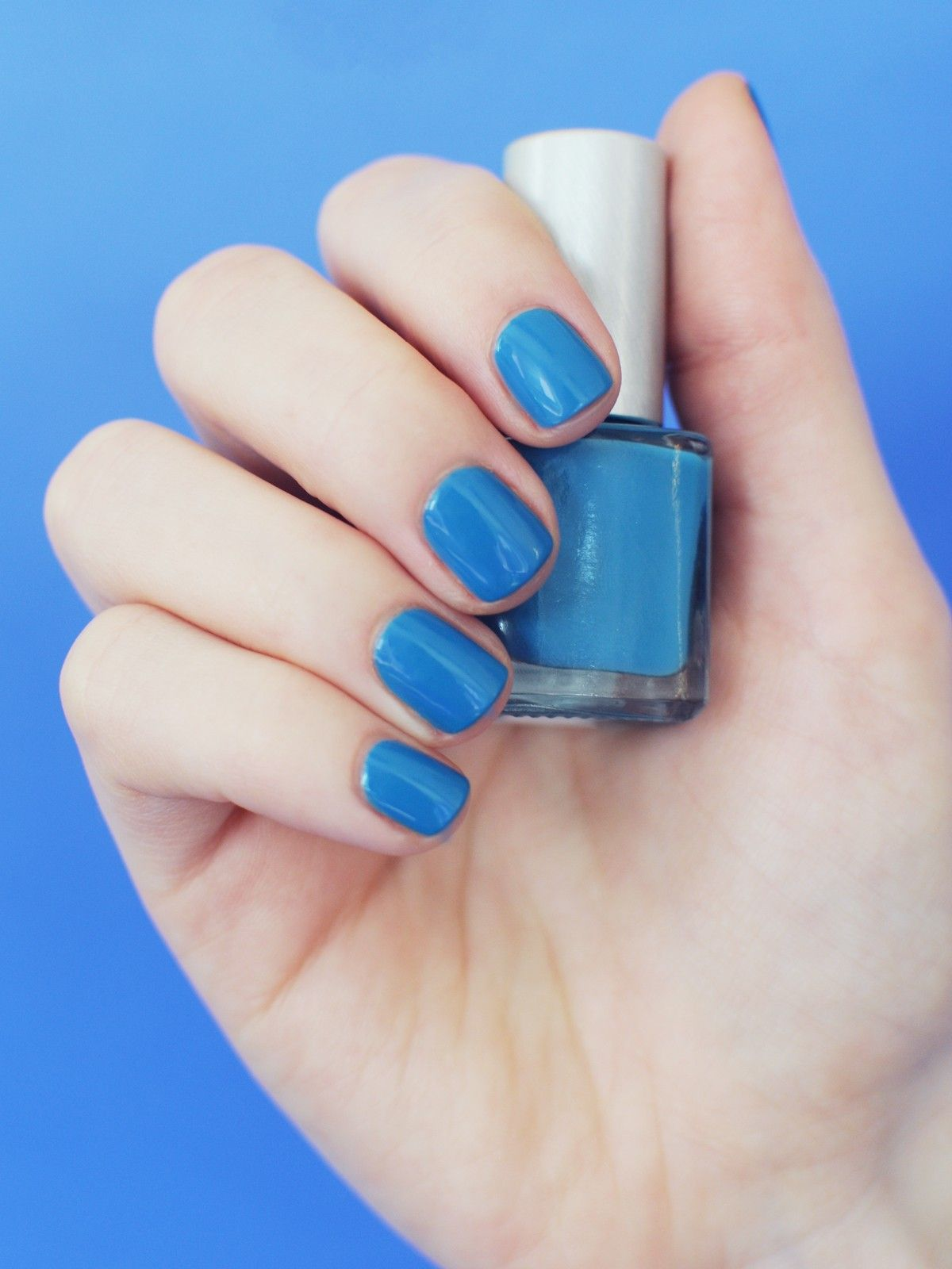 Love this blue! Refinery29 Shops: Priti Nails