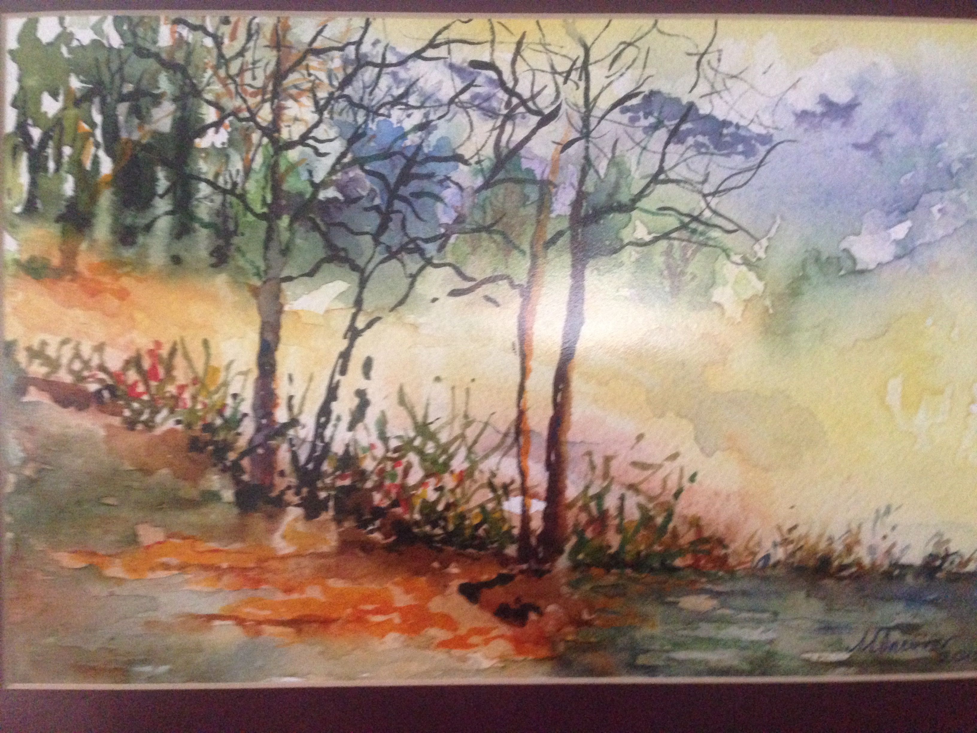 Aquarellmalerei Bildergalerie Landschaften Aulandschaft 12