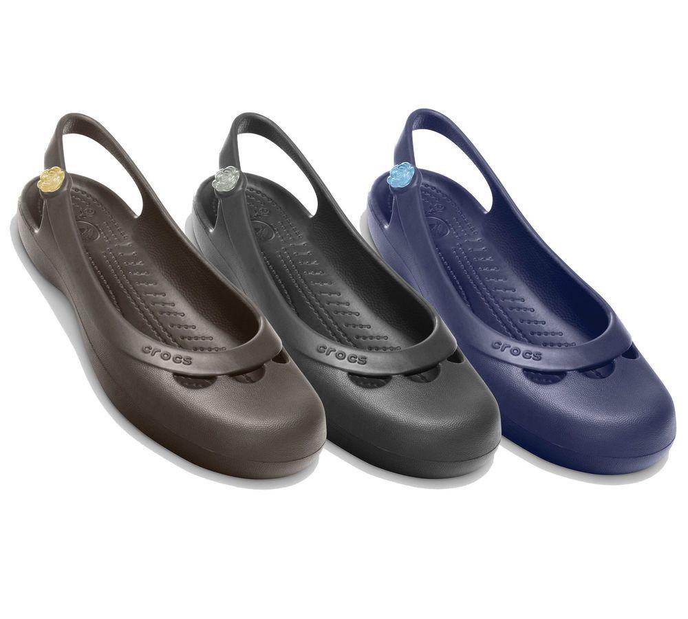 a421c150f22 Crocs JAYNA Flats Womens - Genuine Crocs Ladies Flats Shoes