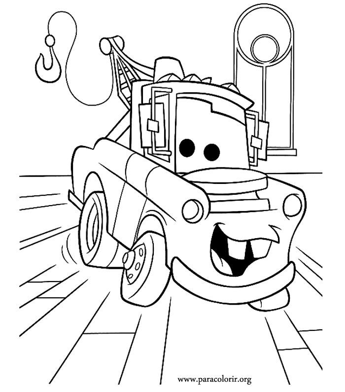 Disney Cars Tow Mater Coloring Pages