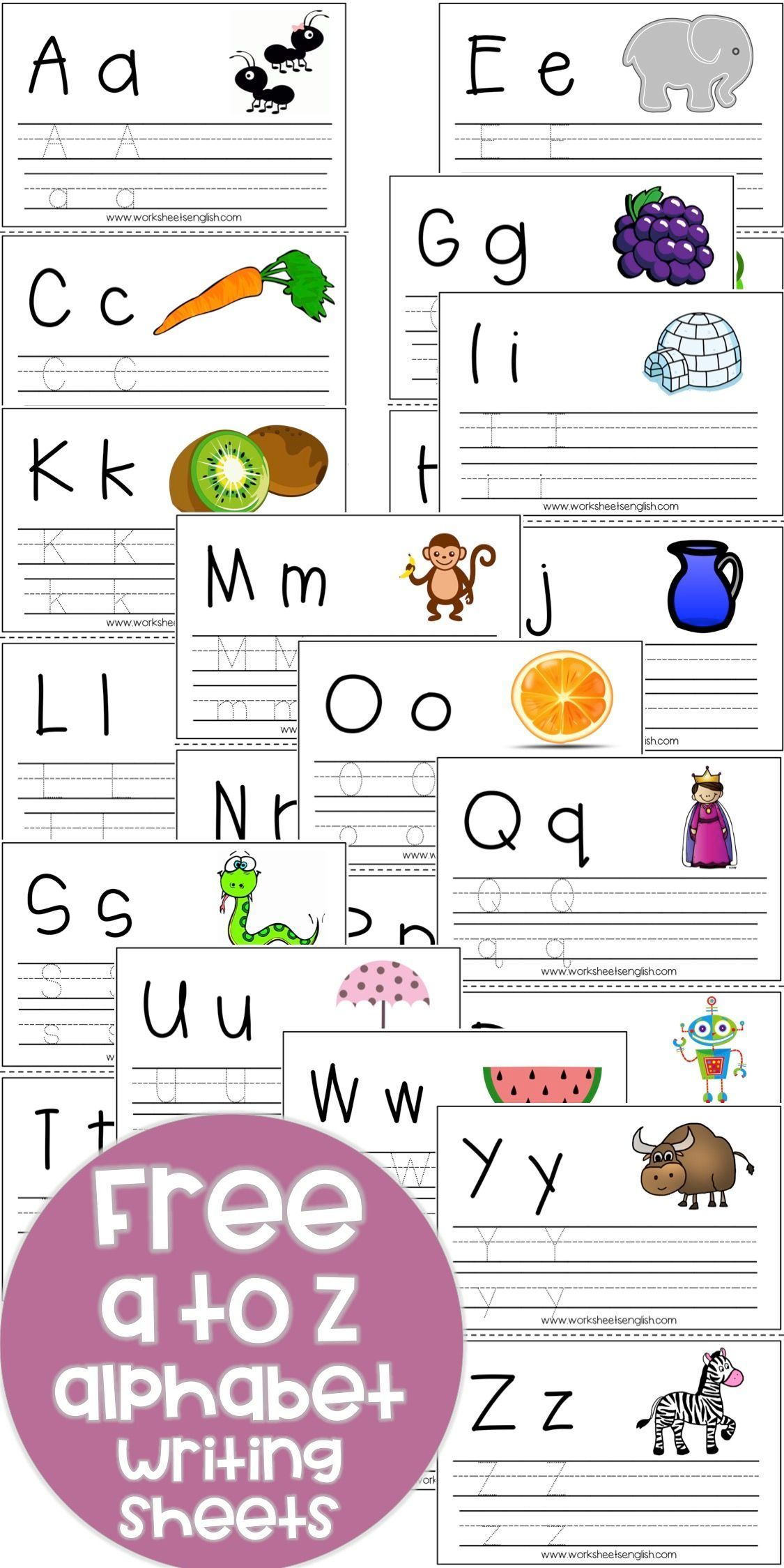 Alphabet Writing Worksheets Free Sheetsenglish