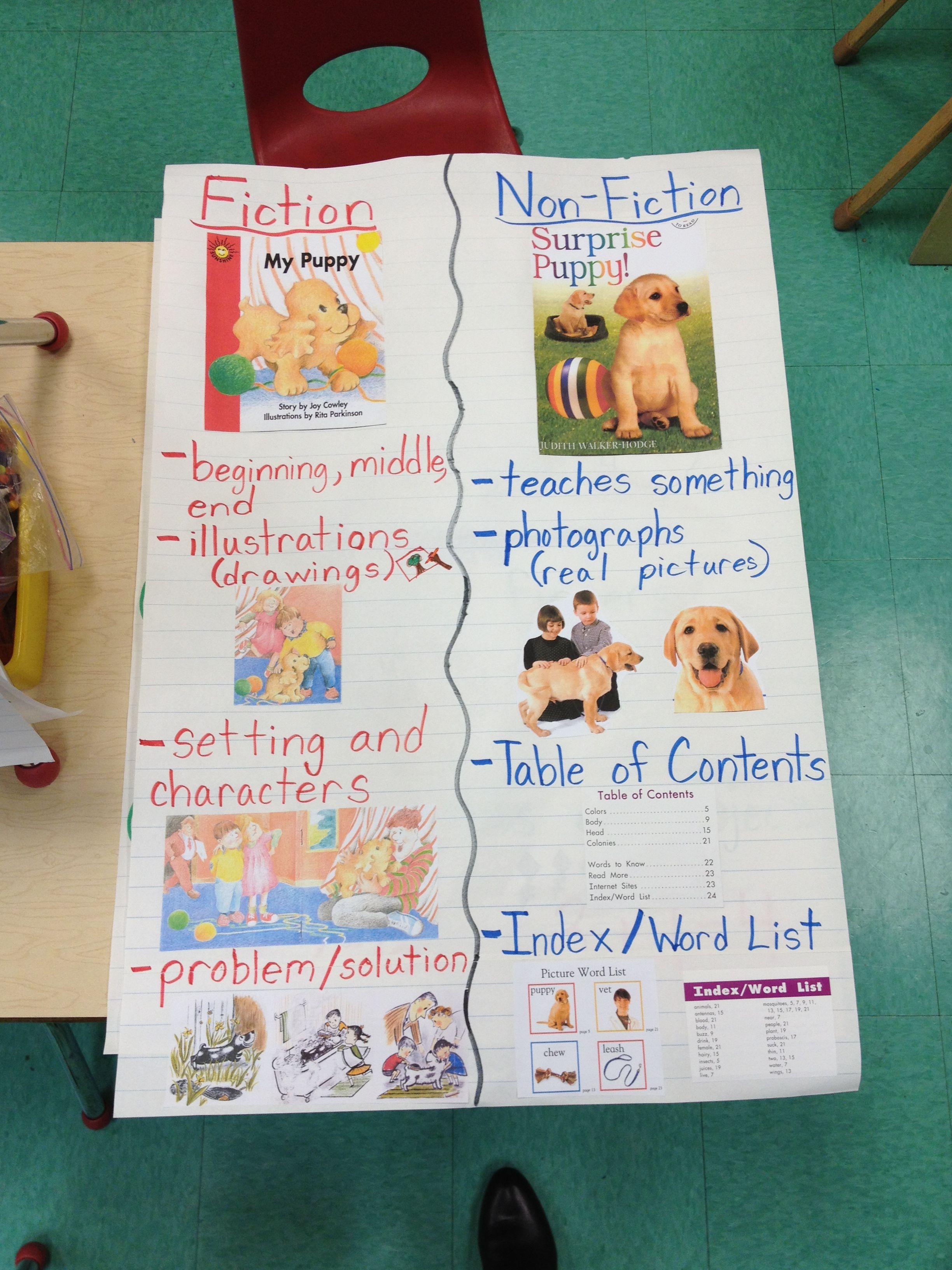 Non Fiction Chart I Made For Reading Workshop With Images