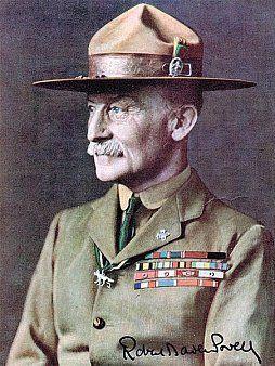 Robert Baden-Powell met de