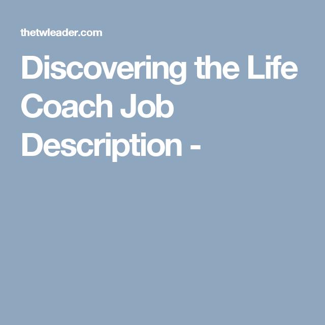 discovering the life coach job description