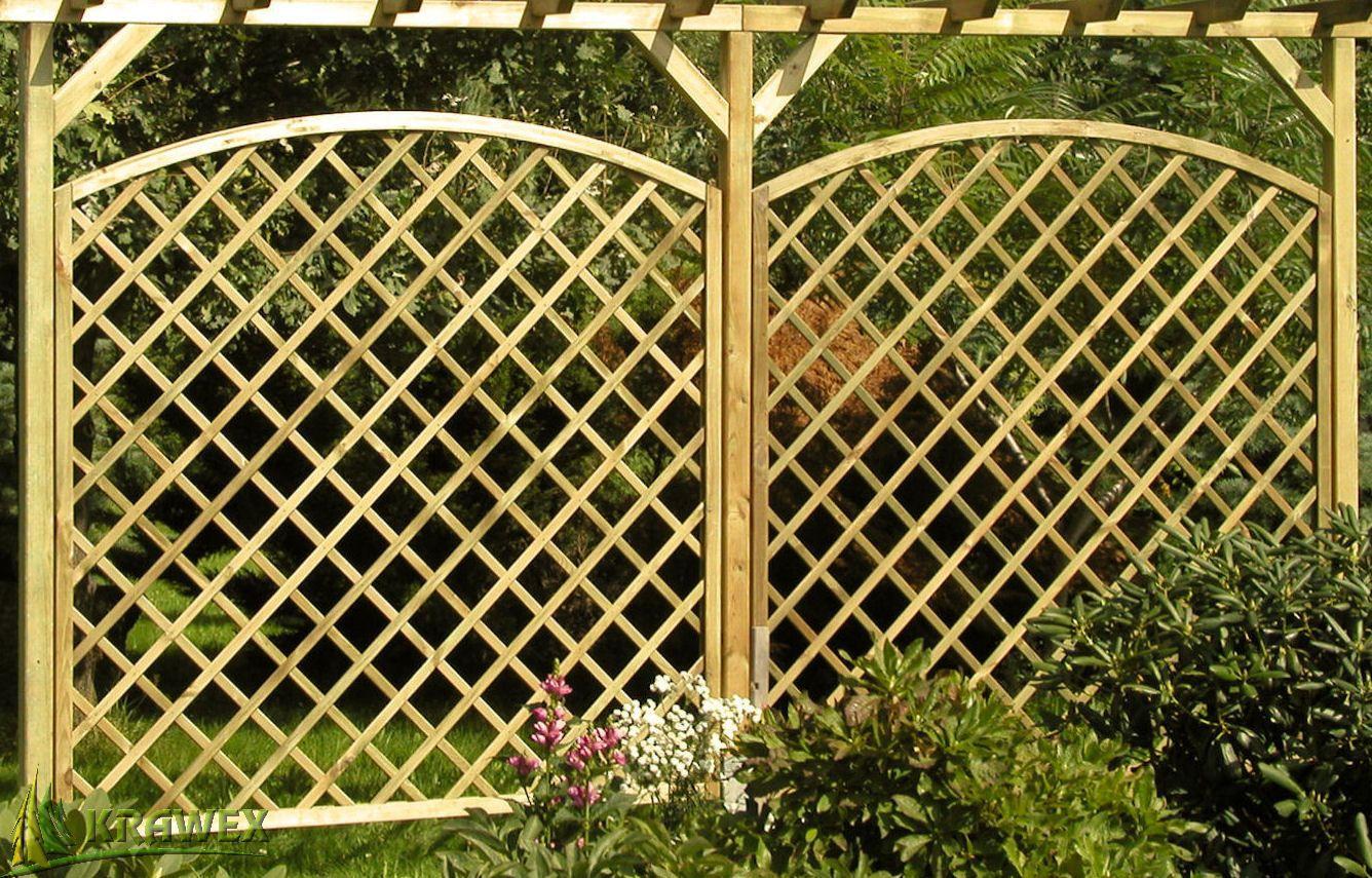 Rankgitter Aus Holz Sichtschutzzaun Mit Bogen 178x180 159 Ebay