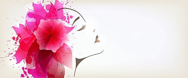 Mujer Flor Acuarela Background Banner Acuarela Mujer Flores