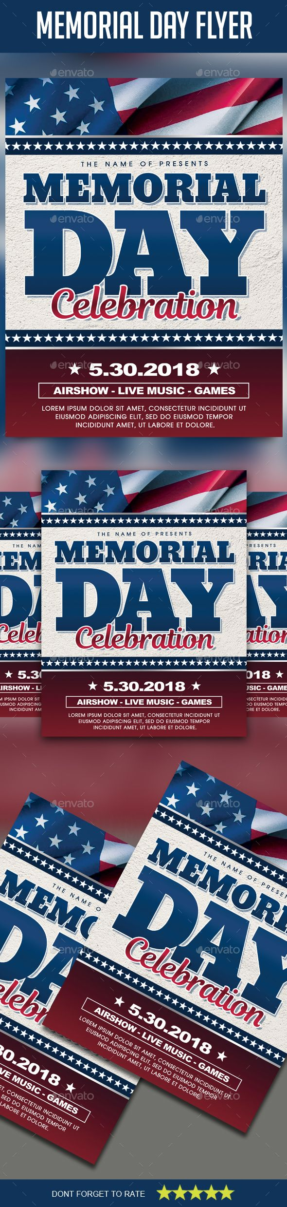 memorial day flyer event flyers flyer design templates and party