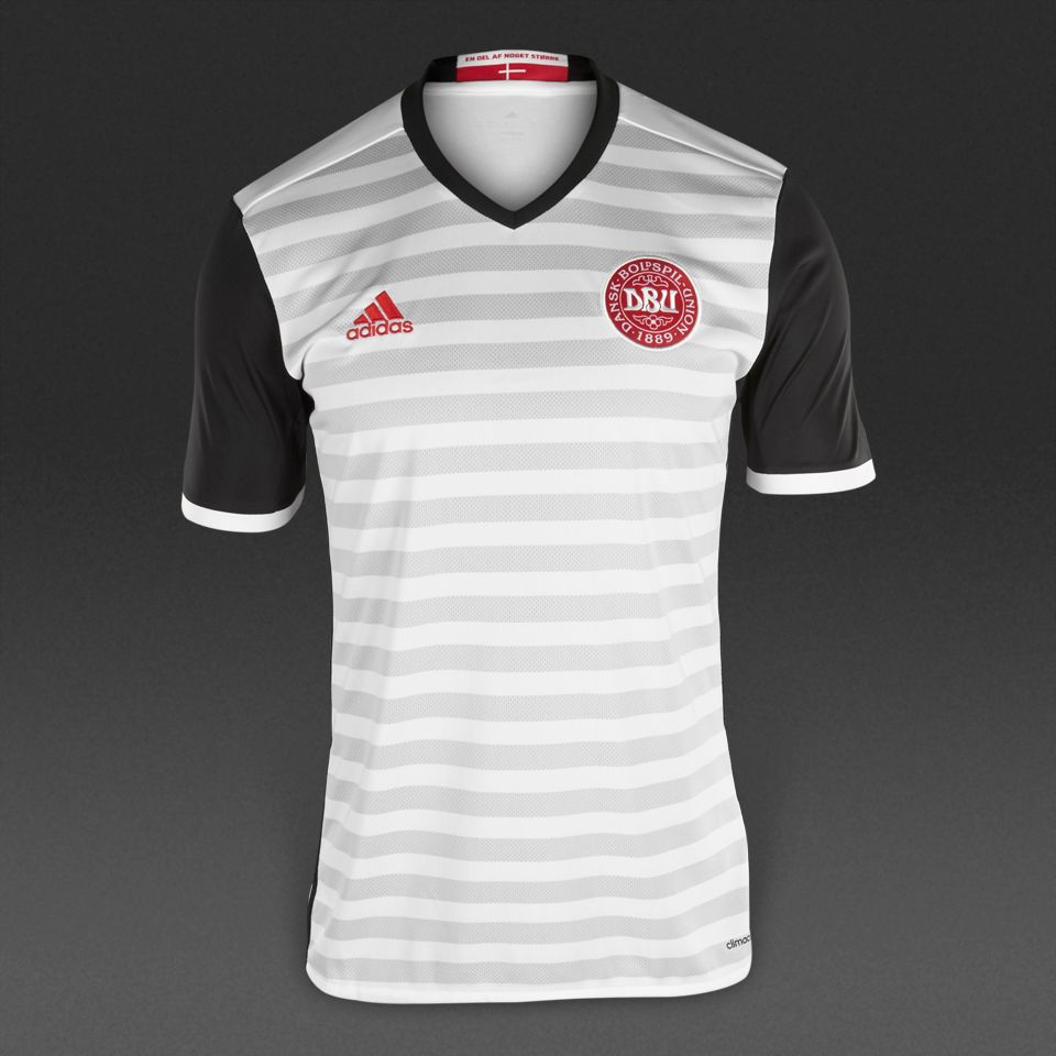 e335b2b82 adidas Denmark 15 16 Away Shirt - White Black