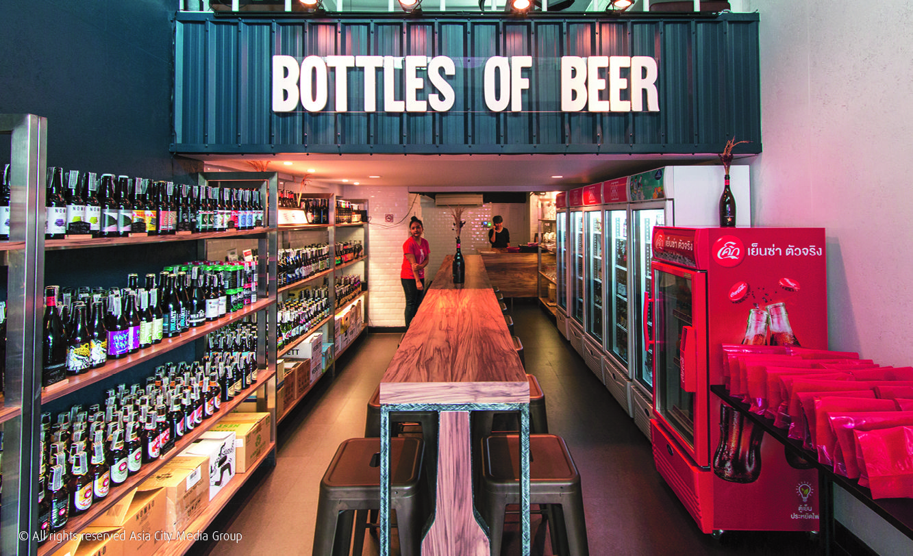 With An Unbeatable Beer Selection Wholesale Prices And Tasty Bar Food In A Communal Atmosphere Bottles Of Beer Ticks Boxes For Craft Beer Bangkok Beer