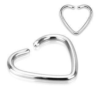 """316L Surgical Steel Star Cartilage Ring /""""Clip-On/"""" Single Closure"""