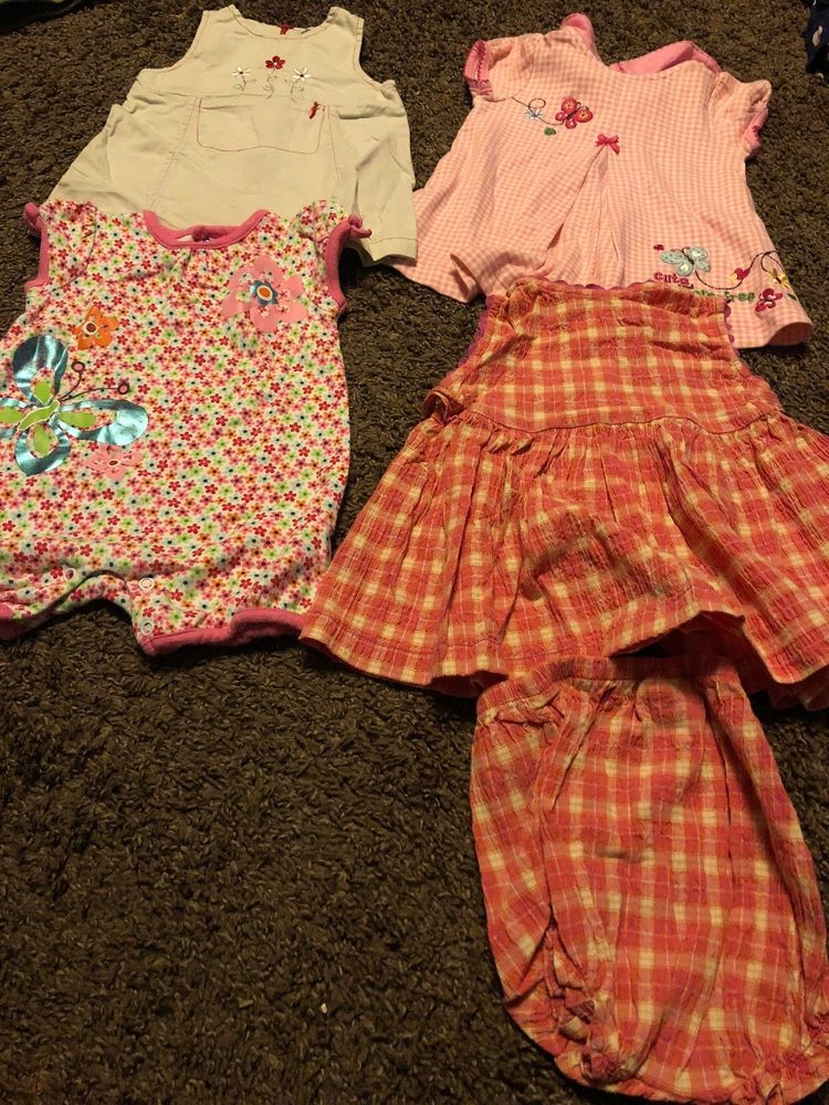 2d6bf4bb290e2 LOT BABY GIRL DRESSES / CLOTHES size 6 - 9 Months SUMMER / 5 pieces ...