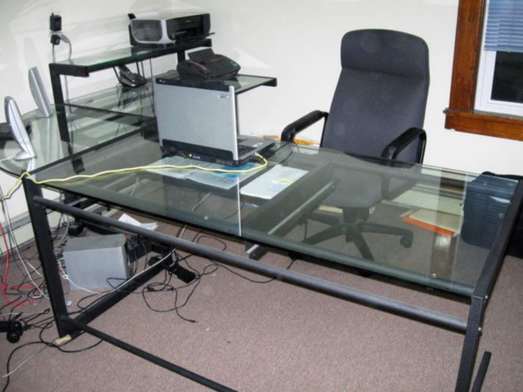 Glass Top L Shaped Desk   Glass Top L Shaped Desk   Best Sit Stand Desk,  Furniture Cacf Aaff 1 Exquisite Glass