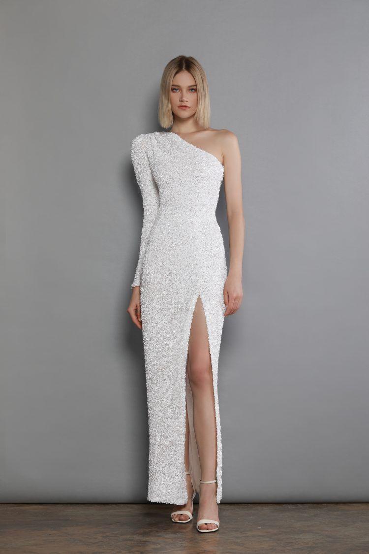 Galaxy Blanc Maxi Dress   Bronx And Banco
