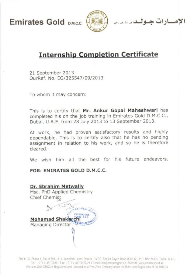 Certificate of internship completion template image collections sample certificate of internship images certificate design and internship report 65 best design internship report images yelopaper Gallery
