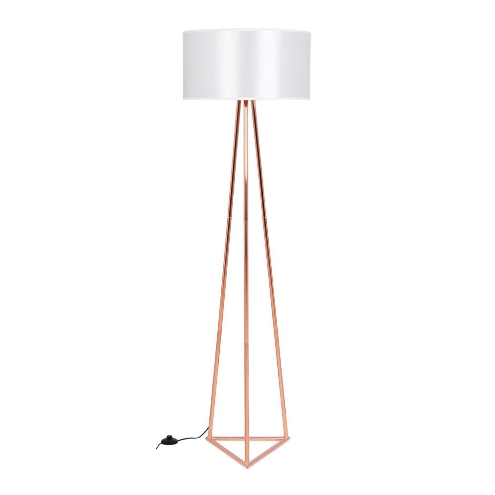 lampadaire rose gold