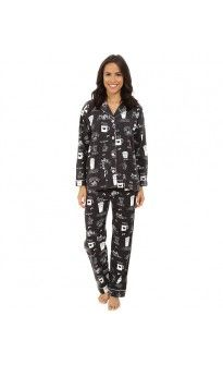 b5d90dbc8b PJ Salvage Women s Flannel Coffee Cup Pajama Set Size XS-XL