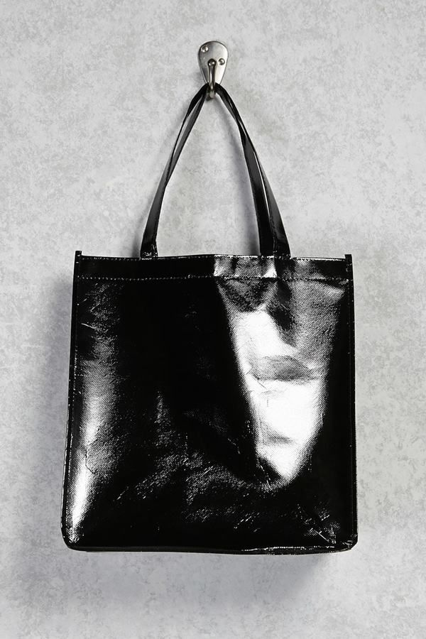 9c955f82209 FOREVER 21 Glossy Eco Tote Bag ( 3.90)