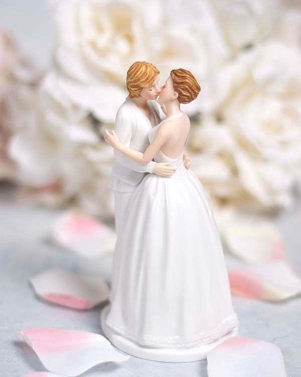 Romance gay lesbian wedding cake topper figurine christy marie's