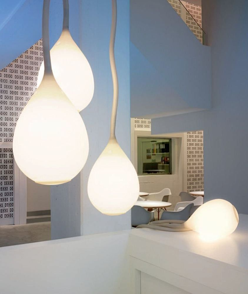 Chummy Living Room To Share In Warm Togetherness With Family: Designer  Lighting Pendant Lamp Silicone