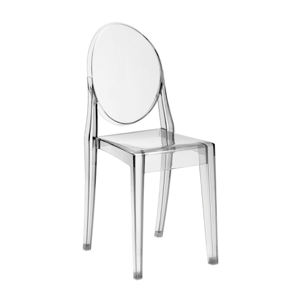 Louis Style Chair, Transparent Clear, Polycarbonate