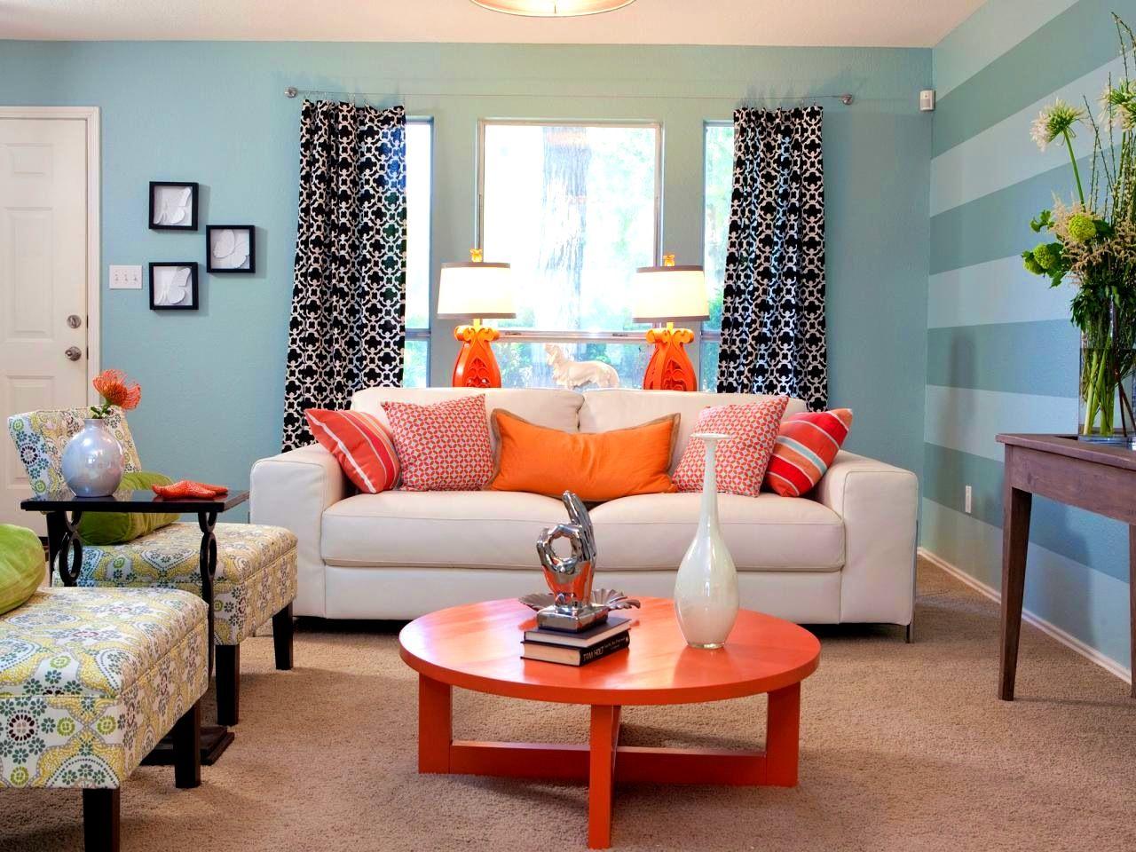 Bedroomfascinating Grey Living Rooms Orange And Blue Bbadcebff
