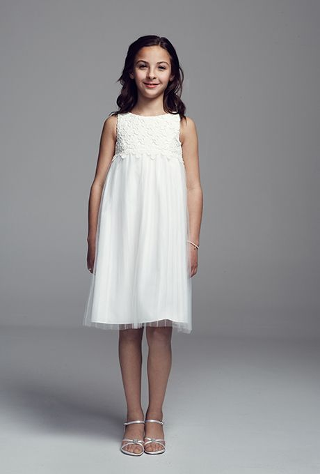 Brides: David's Bridal. Style OP209, tank tulle A-line flower girl ...