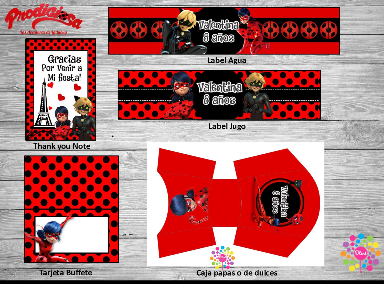 NEW!! MIRACULOUS, Lady Bug!! Printable Party Set! Customize ...