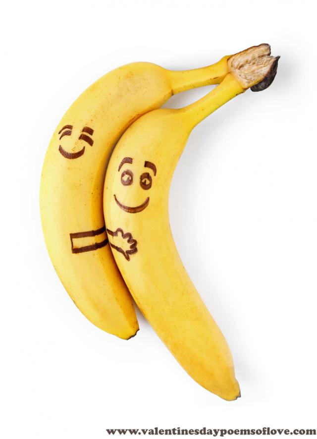 рожицы на бананах фото них это сахарный