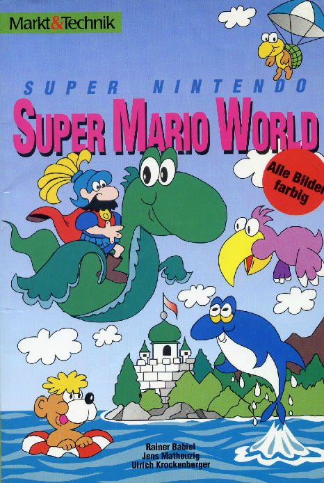 German Strategy Guide For Supermarioworld Depicting Mario As A