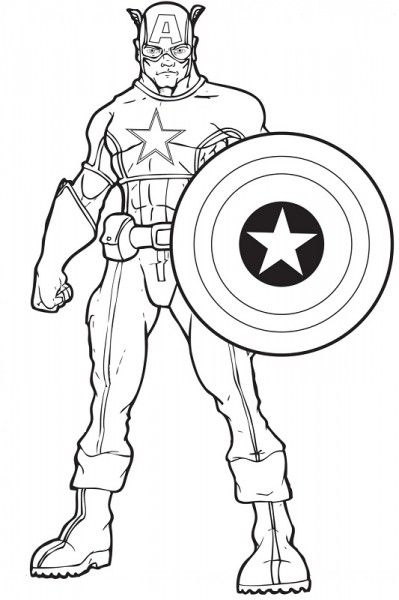 Captain America Ausmalbilder 02 Colouring