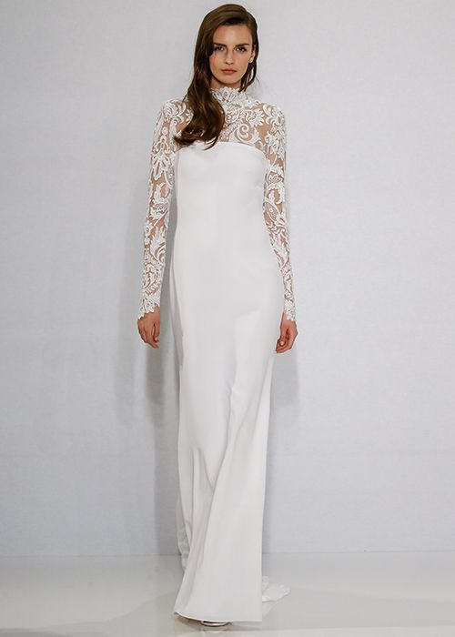High Neckline Wedding Dresses for Modest