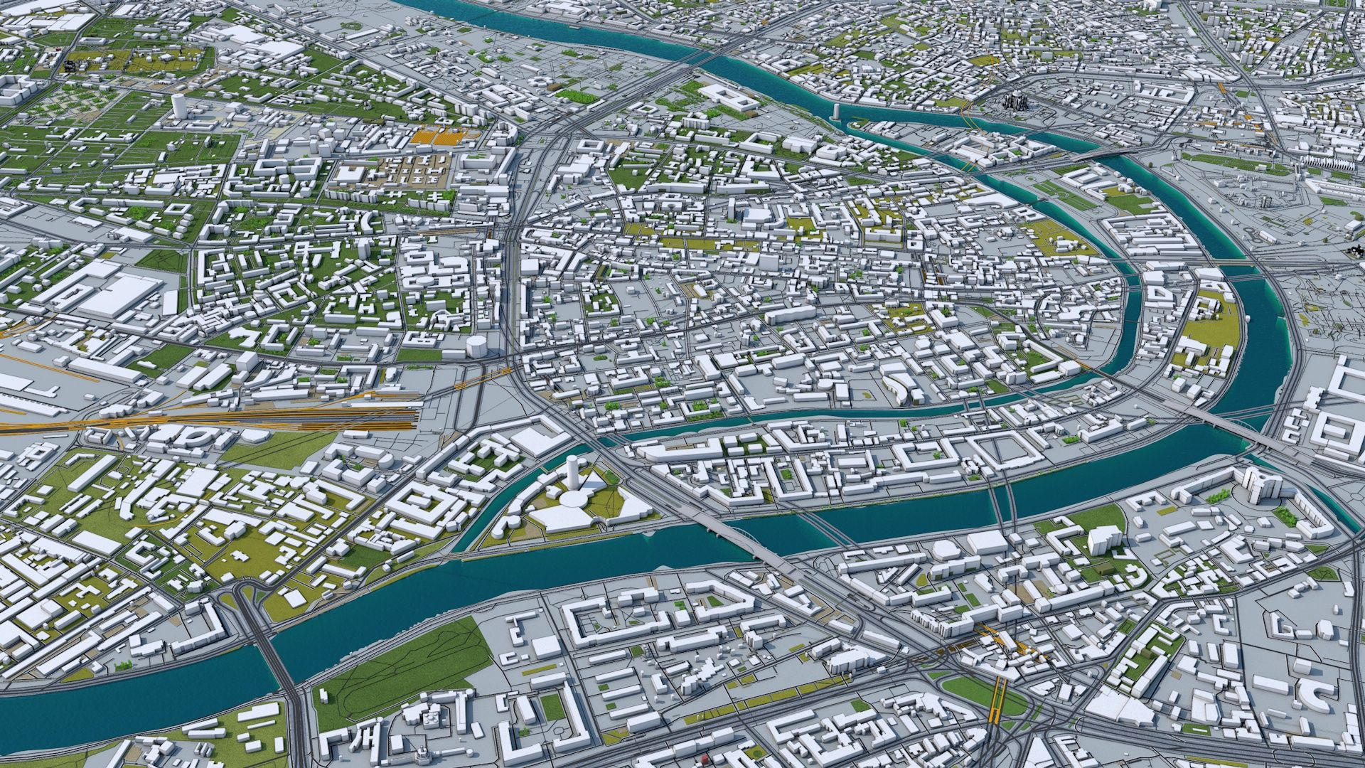 Moscow City Russia 3D Model 50km in 2020 City model