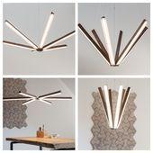 Origineller und einzigartiger Kronleuchter aus Holz mit LED-Beleuchtung. #Beleuc ...   - Beleuchtung - #aus #Beleuc #Beleuchtung #einzigartiger #Holz #Kronleuchter #LEDBeleuchtung #mit #Origineller #und #kronleuchterselbstbauen