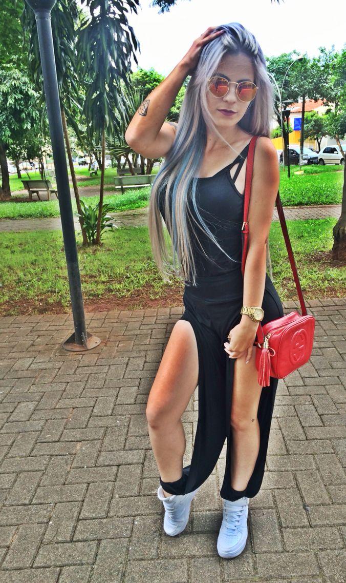 #hairblue #modafeminina