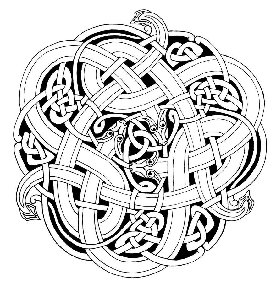 Celtic Snakes outlines by Feivelyn | Celtic drawings ...