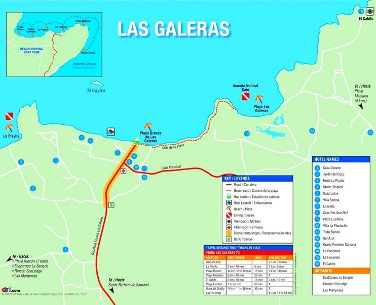 Las Galeras hotel map Maps Pinterest Samana Dominican