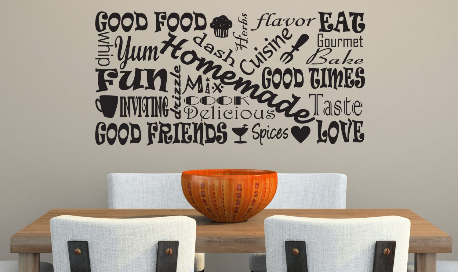 kitchen vinyl decal large size subway art by davisvinyldesigns 28 00 country kitchen wall on kitchen decor quotes wall decals id=57036