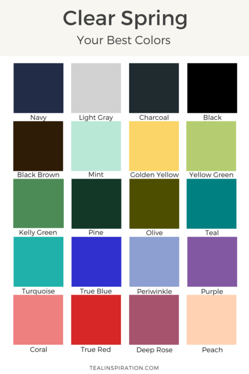 spring パーソナルカラー スプリング pinterest cores armário