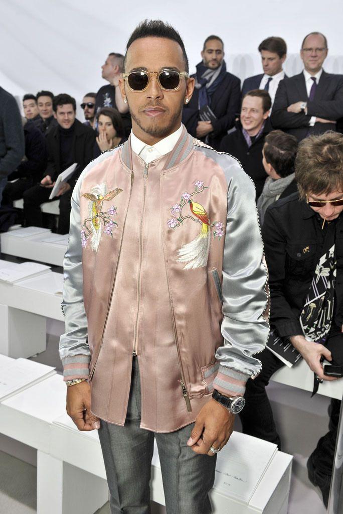 9dffd2b832bf Lewis Hamilton. Front Row at Louis Vuitton Men s Fall 2016