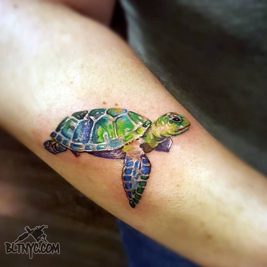 Watercolor Sea Turtle Tattoo By So Yeon Sona Art At Bltnyc